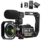 Video Camera 4K Camcorder ZOHULU WiFi Ultra HD Vlog Camera for YouTube, 3.1'