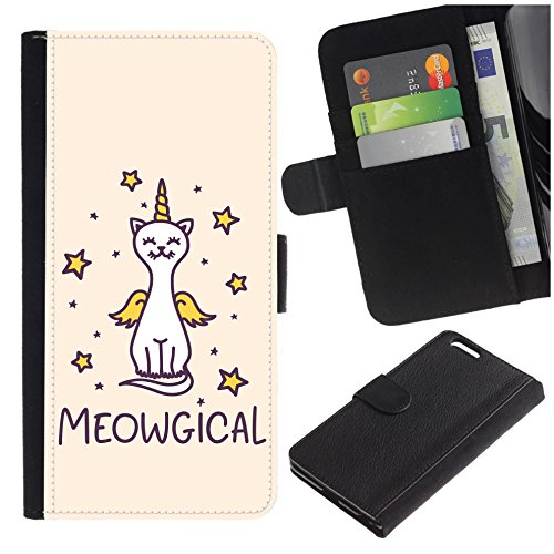 [Funny Cat Costume Unicorn] for Samsung Galaxy S7 / Galaxy S7 Duos / G930, Flip Leather Wallet Holsters Pouch Skin -