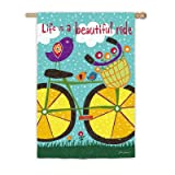 Cheap Evergreen Enterprises, Inc Summer Life is a Beautiful Ride Vertical Flag