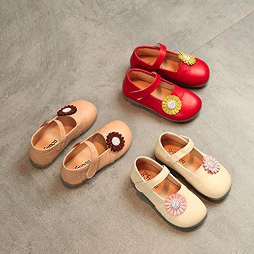 Schuhe jany 0-6 Jahre Alte Mädchen Lederschuhe Kinder Kinder Casual Floral Single Schuhe Sneaker Rosa