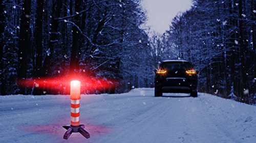 Heliar Highway LED Flare Emergency Safety Flares Kit Red LightAlternative To Roadside Safety TriangleMust Have For Car