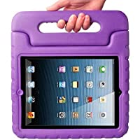 Carry Children Baby Shock Proof Foam Back Case Handle Cover Stand for iPad 2 3 4 Purple