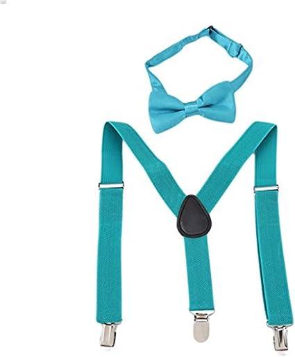 Baby Kids Boys Girls Suspenders Elastic Braces Tie Belts Clip-on Adjustable