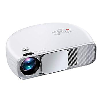 CHENG Mini proyector Portable, Mini multimedias del proyector de ...