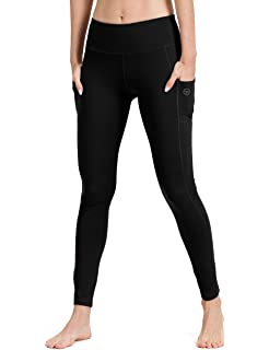 6be17a1d7073a8 Gym Leggings with Pocket, ALONG FIT Yoga Pants Mesh - Non See-through High  Waist Fitness Tights…
