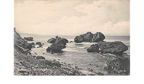 Bathsheba Barbados view of sea from rocky shore antique pc Z9743 at Amazons Entertainment Collectibles Store