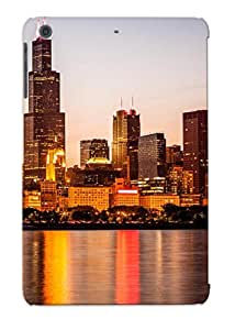 Crooningrose Durable Defender Case For Ipad Mini/mini 2 Tpu Cover(chicago Downtown City Lakefront With Willis Sears Tower) Best Gift Choice