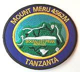 Mount Meru Iron on Patch / 3.25 Inch Embroidered Socialist Peak Tanzania Trekking Climbing Badge Souvenir