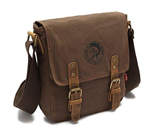 Canvas Crossbody SIFINI Small Handbag Coffee Bag shoulder Bag Vintage HEnzx6wqO