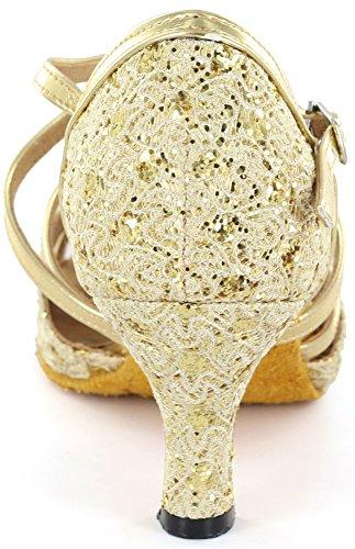 Alma Danza (x3 Series) Almadanza Mujeres Latin Dance Zapatos A273701 Gold