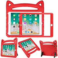 HDE Kids Cat Case for iPad 9.7″ iPad Air 1 and 2 and 2018/2017 iPad w/Built in Screen Protector Shockproof Kids Case w/Stand for Apple 2018 (6th Gen) / 2017 (5th Gen) iPads and Air 1 and 2 Tablets