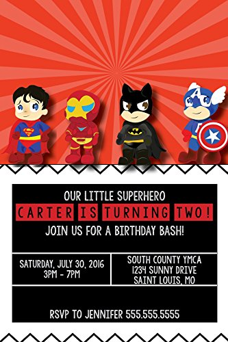 Customized - Super Hero Birthday Invite ()