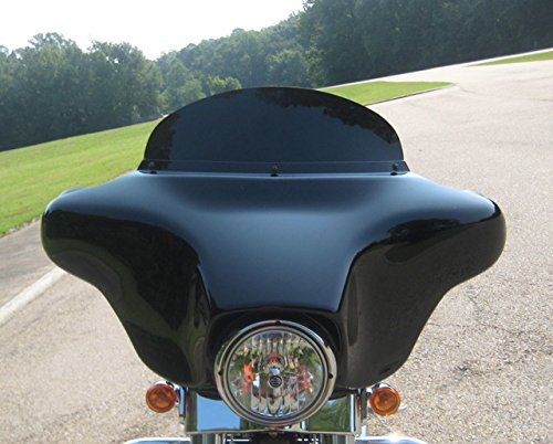 "Harley Davidson 8"" dark tint windshield for 2014-2019 Street Glide/Electra Glide/Ultra Classic/Tri-Glide, made of superior quality Makrolan 7135 polycarbonate"