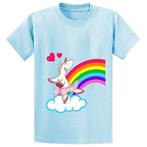 Snowl The Geekies Rainbow Unicorn Boys' Crew Neck Graphic T Shirts (Htc Wing Solid Case)