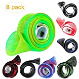8 Pack Expandable Spinning Casting Fishing Rod Covers Sleeves , Tube Pole Glove Socks Clothes For Fly, Spinning,Casting, Sea Fishing Rod Protector Tools Accessories, Fishing Rod Tackle Storage Wraps