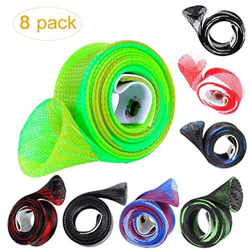 8 unidades de fundas extensibles para caña de pescar y caña de pescar para cañas de pescar, tubo, guantes, calcetines,...