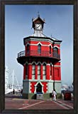 Historic Clock Tower, V and A Waterfront, Cape Town, South Africa by David Wall / Danita Delimont Framed Art Print Wall Picture, Espresso Brown Frame, 21 x 30 inches