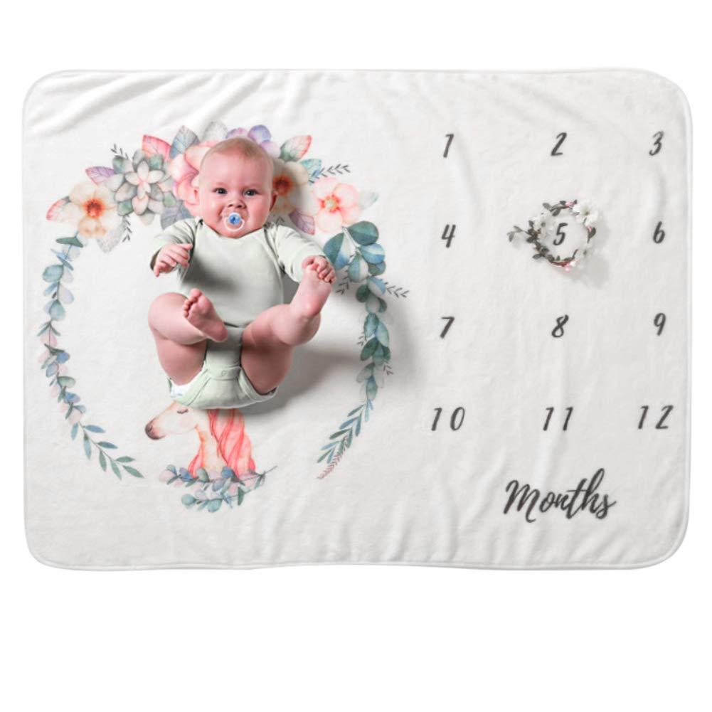 COUXILY Meilenstein Poto Decke f/ür Neugeborene oenbopo Baby Monatliche Milestone Fotografie Requisiten Shoots Hintergrund Tuch 70 102 cm B01