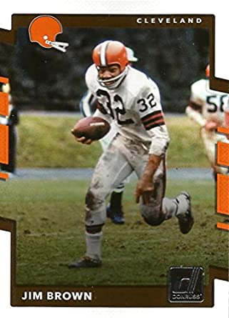 446a22c27 Amazon.com: 2017 Donruss #203 Jim Brown Cleveland Browns Football ...
