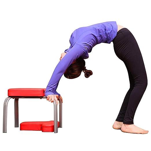 Yoga Yoga Postura sobre La Cabeza De Heces Banco Invertido ...