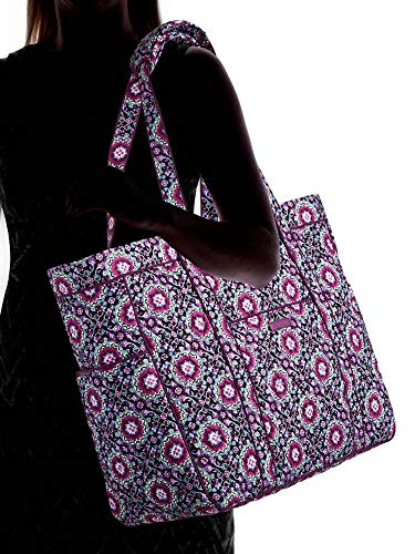 Vera Bradley Quilted Signature Cotton Get Carried Away Tote/Travel Bag (Lilac Medallion)