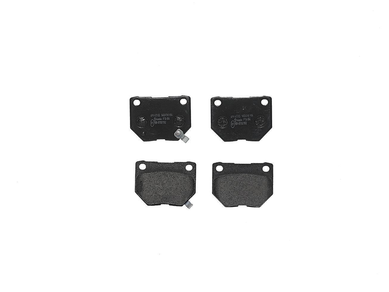 Set of 4 Brembo P28025 Rear Disc Brake Pad