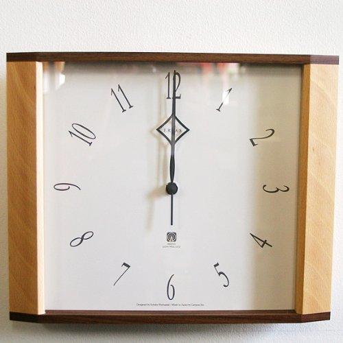 タカタ レムノス/lemnos 和室用木製掛け時計LC10-01W (TL-LC10-01W) B00D2YQ640