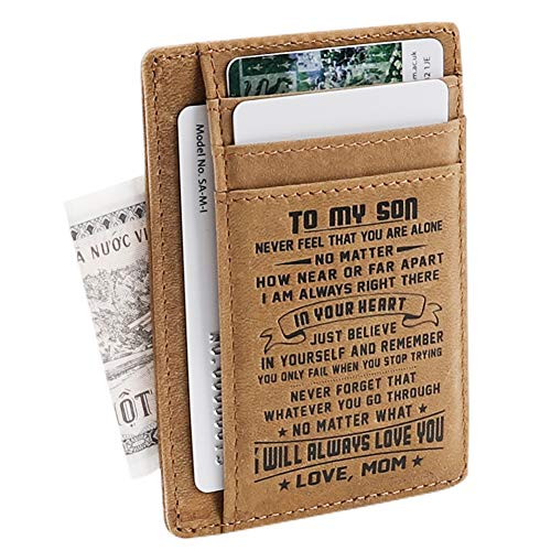 Son Memorial Gifts - Personalized Pocket Wallet For