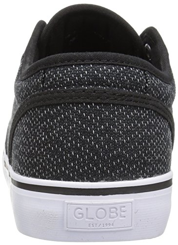 Globe Herren Motley Skate-Schuh, schwarz - Black Woven/White - Größe: 43 EU (M)