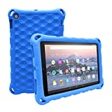 All-New Amazon Fire HD 10 Tablet Case (2015 and 2017 Released) - Mr.Spades [Adult Friendly] [Kids Friendly] [Four Corner Protection] Light Weight Shock Proof Back Cover for Fire HD 10.1' Tablets, Blue