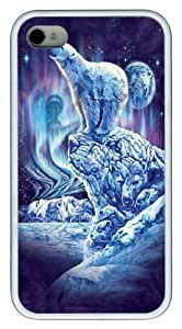 iPhone 4s Cases & Covers -Kids Find 11 Polar Bears Custom TPU Soft Case Cover Protector for iPhone 4/4S White