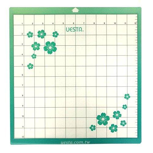 "UESTA Vinyl Plotter Die Replacement Self Adhesive Cutting Mat (12""x12"" Paste Standard Grip"