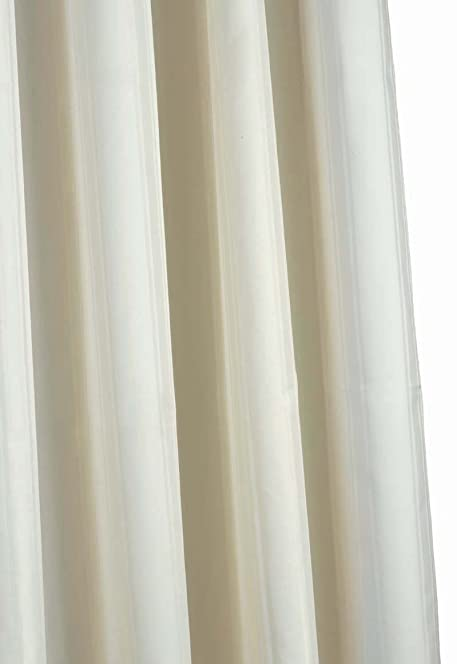 Croydex Water Resistant Machine Washable Cling Resistant Plain Ivory  Textile Shower Curtain