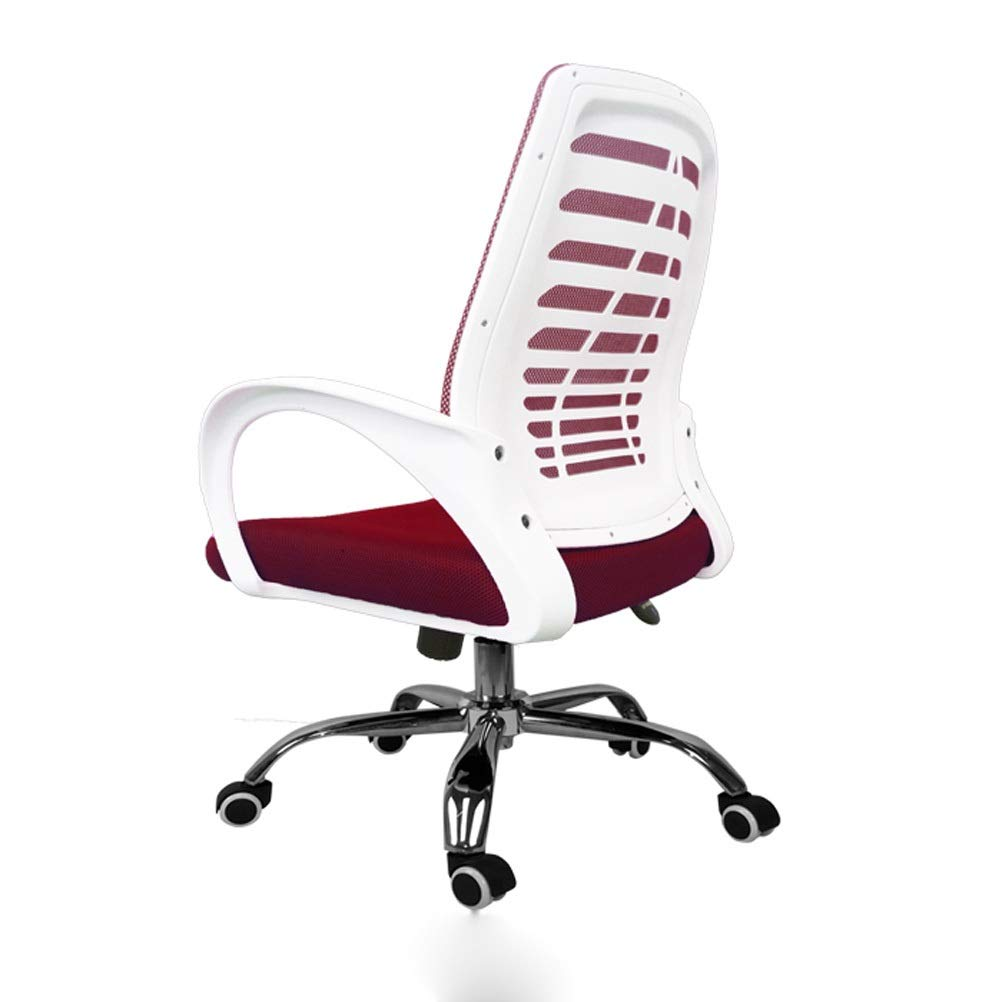 Red Sports Style Office Chair, Swivel Ergonomic Chair, with Foldable Armrests 0526P (color   bluee)