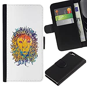 KingStore / Leather Etui en cuir / Apple Iphone 6 / Pintura Majestic Lion