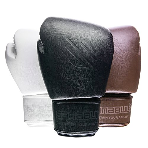 Sanabul Battle Forged Thai Style Kickboxing Professional Gloves (Black, 12 oz)