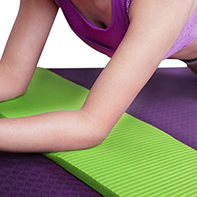 "HDE Yoga Knee Pad 15mm Thick Anti-Slip Workout Mat for Yoga Pilates Fitness and Exercise Pressure Point Relief Pain Free 24""x10"" Cushion"