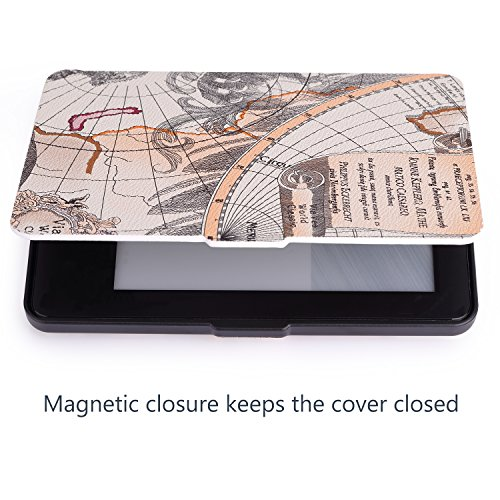MoKo Case for Amazon Kindle 7th Gen - Ultra Lightweight Shell Case Stand Cover Case for Amazon Kindle 2014 ( 7th Generation ), Map A by MoKo (Image #5)'