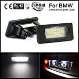 LEIHUANG BMW LED License Plate Lights Lamps for E39 E60 E61 E70 E82 E90 E92 F30 Error Free Canbus