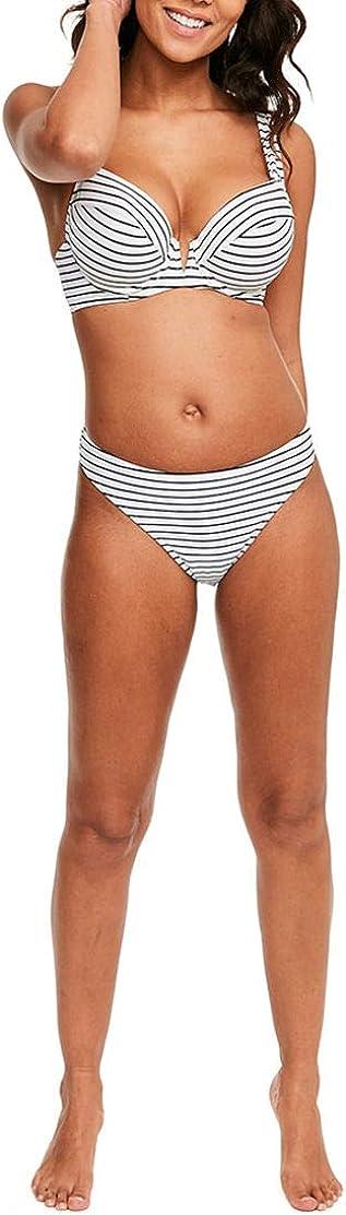 Figleaves Womens Castaway Underwired Plunge Bikini Top