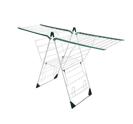 XnZLXS-Tendederos Rack de Secado de lavandería de Acero Inoxidable Rack de Almacenamiento Plegable Multifuncional