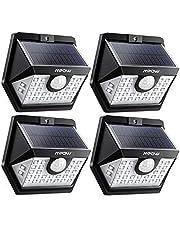 【Lot de 4】Mpow 30 LED Lampes Solaires Extérieur 3 Modes Intelligents Etanche IP65, Spot Solaire Détecteur de Mouvement, Eclairage Exterieur pour Jardin, Maison, Garage, Cour, Escalier, Patio
