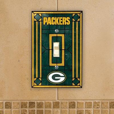 (Green Bay Packers Art Glass Lightswitch)