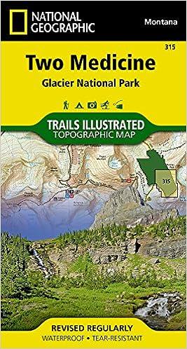 Two Medicine Glacier National Park Trails Illustrated Map 315