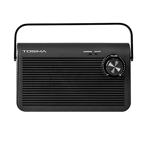 Tosima Wireless TV Speakers for Hearing Impaired, Senior Hearing Assistance Speaker for TV, Portable Sound Amplifier Soundbox for Hard of Hearing and Elderly TV Need 3.5mm Jack or Audio Out Plug
