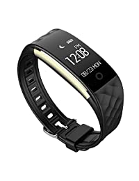 Sport Watches, Kingfansion Bluetooth 4.0 LED Waterproof Smart Wrist Watch Bracelet (black)