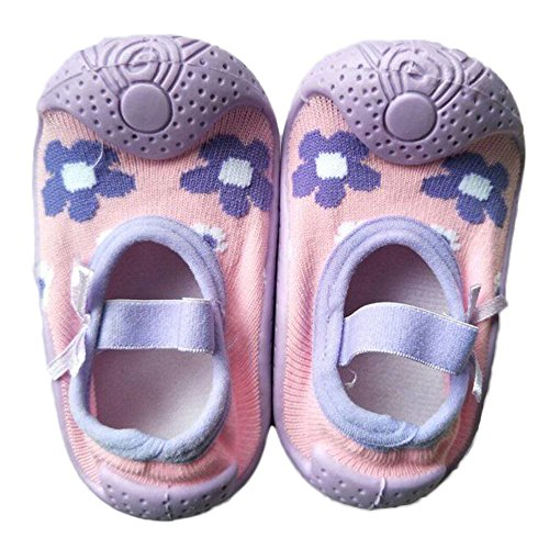 Kids Floor Socks Anti-Slip Rubber Baby Girls Breathable Cotton Rubber Soles Socks