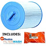 Pleatco Cartridge Filter PWW50P3-M Waterway Front Access Skimmer Aber Hot Tubs (Antimicrobial) 817-0050 03FIL1400 25252 378902 PWW50 (Antimicrobial) w/ 1x Filter Wash