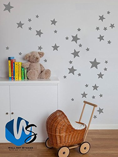 Mixed Size Stars Wall Stickers Kid Decal Art Nursery Bedroom Vinyl