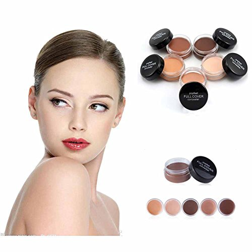 Foundation Corrector (5 Colors Popfeel Concealer High Definition Waterproof Nature Full Cover Concealer Corrector Makeup Foundation(1 #))